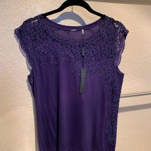 Elie Tahari shirt with lace detail